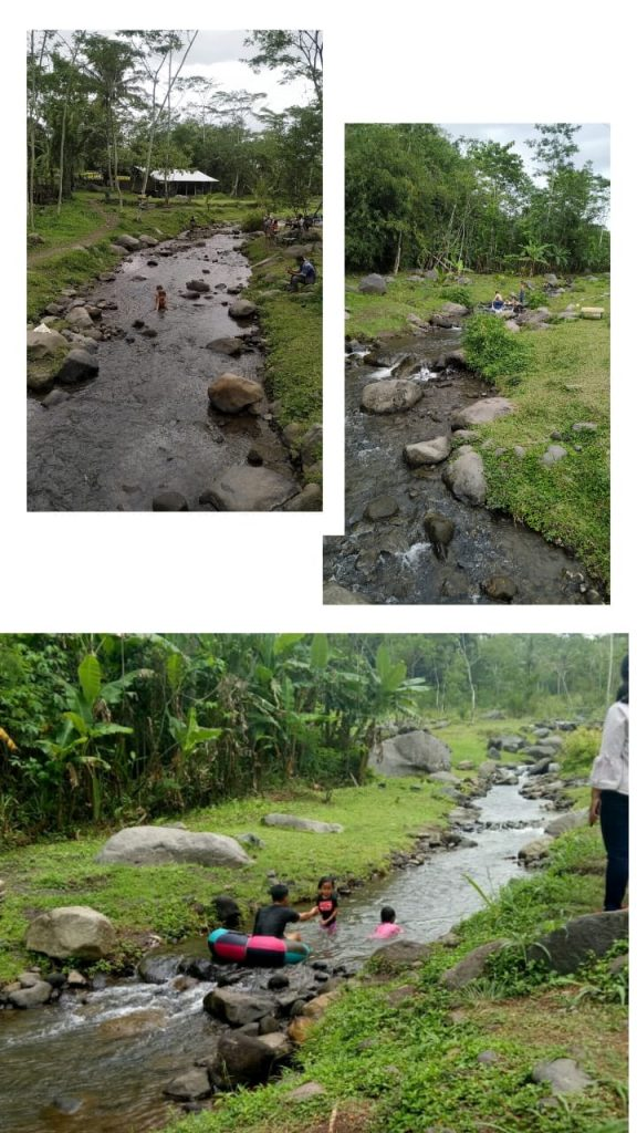 wisata anak mandi di sungai ledok sambi