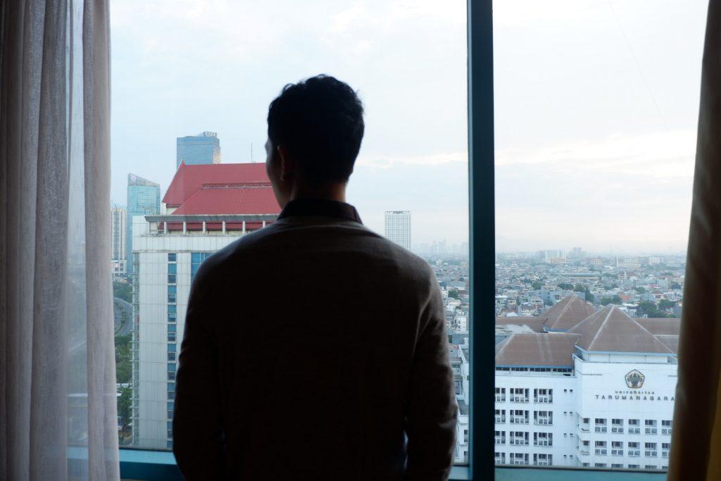 pemandangan dari jendela hotel ciputra